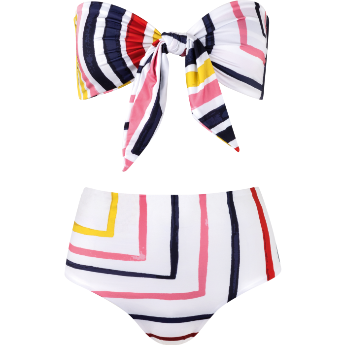 Cala de la Cruz Bimba bikini top, $150, and Elisa bottoms, $145