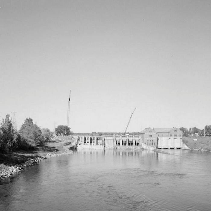 The Croton dam, one of the oldest in Michigan, was built in 1907