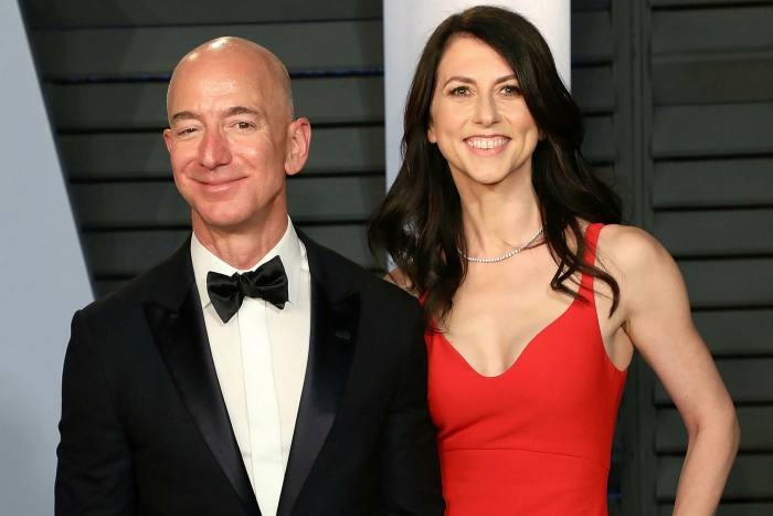 Jeff Bezos and MacKenzie Scott, who worked together in Amazon's early days