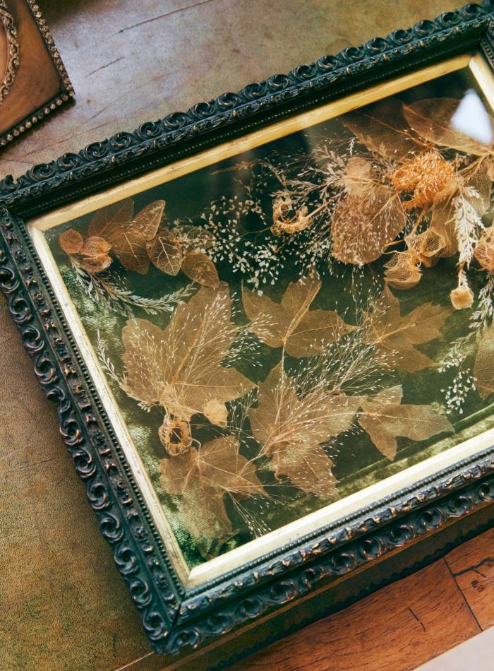 A Victorian diorama in its carved oak frame – the best gift Konig has received recently