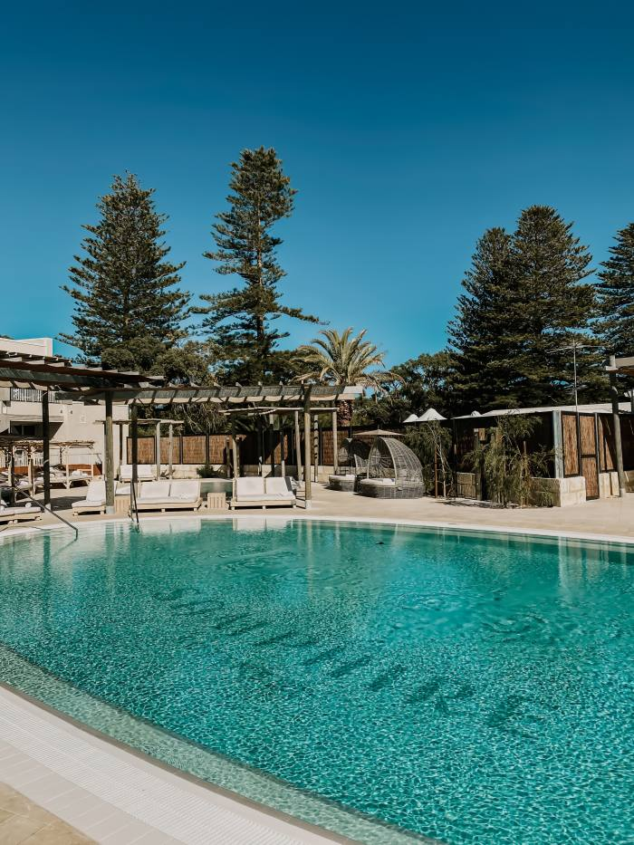 One of the two swimming pools at Samphire Rottnest