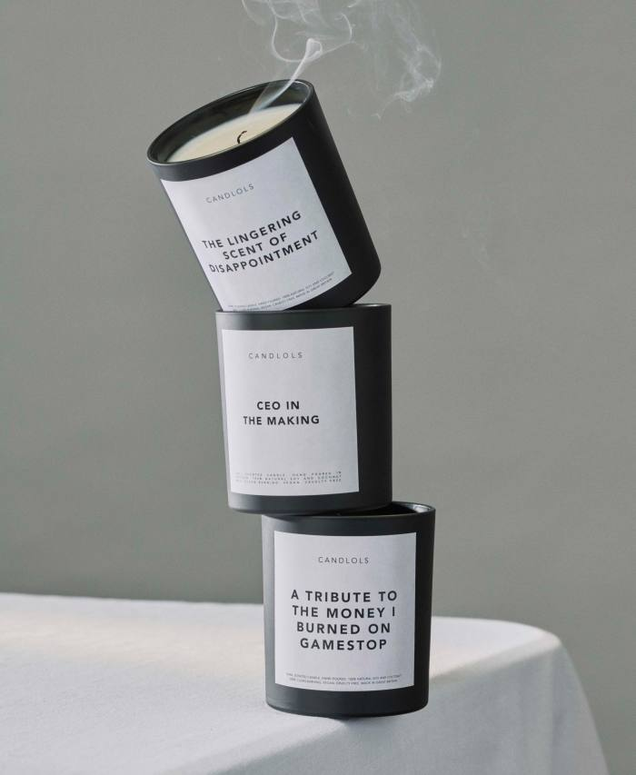 Candlols candles, £21 each