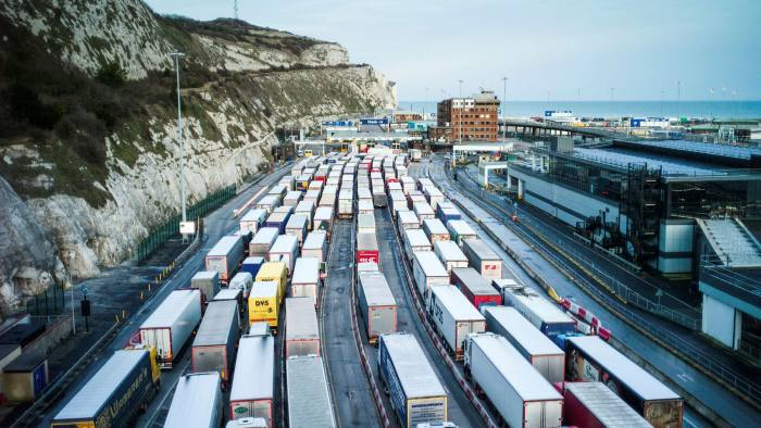 Dover straits: freight queues formed in January as exporters felt the effects of Brexit VAT and tariff rules
