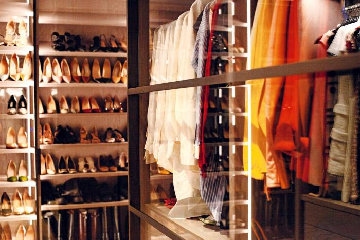 """My personal toy room"": her walk-in wardrobe"