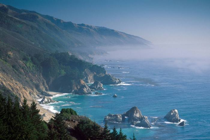 The Big Sur coast in California