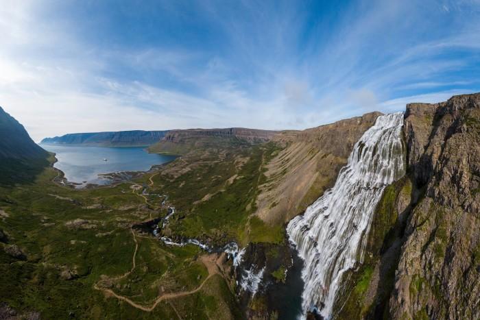EYOS' MV Nansen Explorer is currently touring the northwest coast of Iceland
