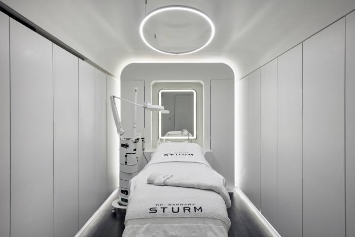 One of the treatment rooms at Sturm's Mayfair outpost