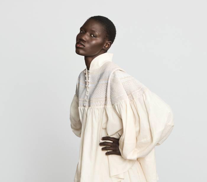 Varana khadi smocked blouse, £3,600