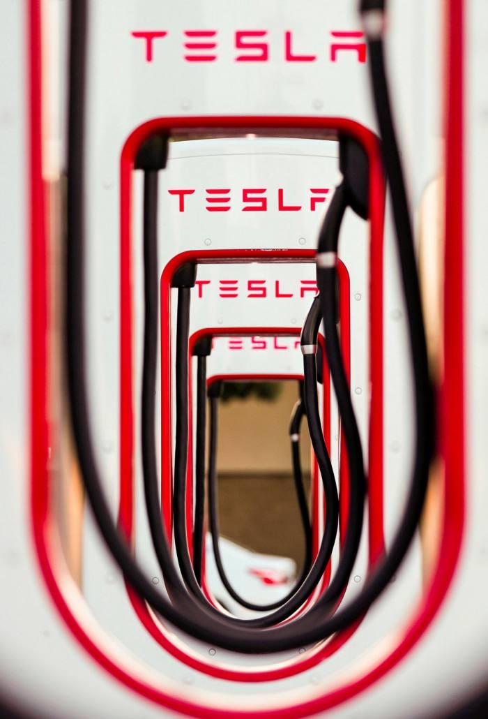 Tesla super chargers