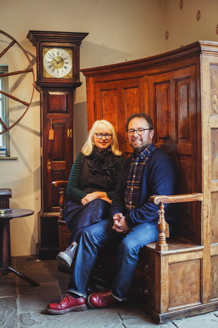 Betsan and Tim Bowen in their antiques store – they set up their business in 2003
