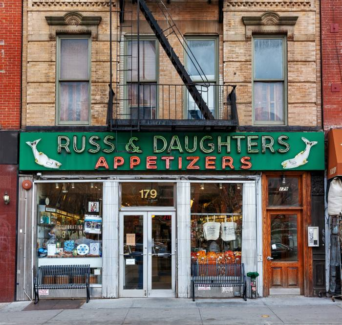 Infinite options for chicken soup at Russ & Daughters on the Lower East Side
