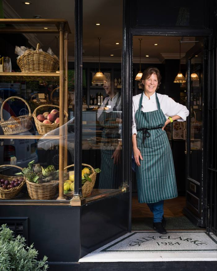 Sally Clarke at her Notting Hill shop
