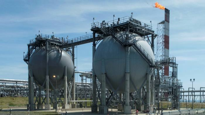 A liquefied natural gas plant on the Russian island of Sakhalin