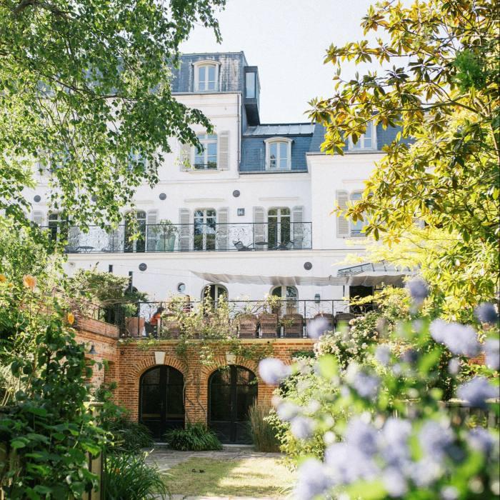 The boutique Les Tilleuls hotel...
