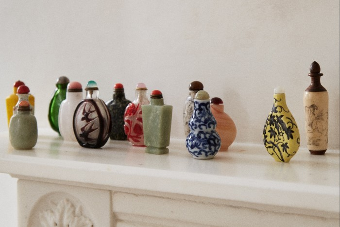Part of her 30-strong collection of snuff bottles