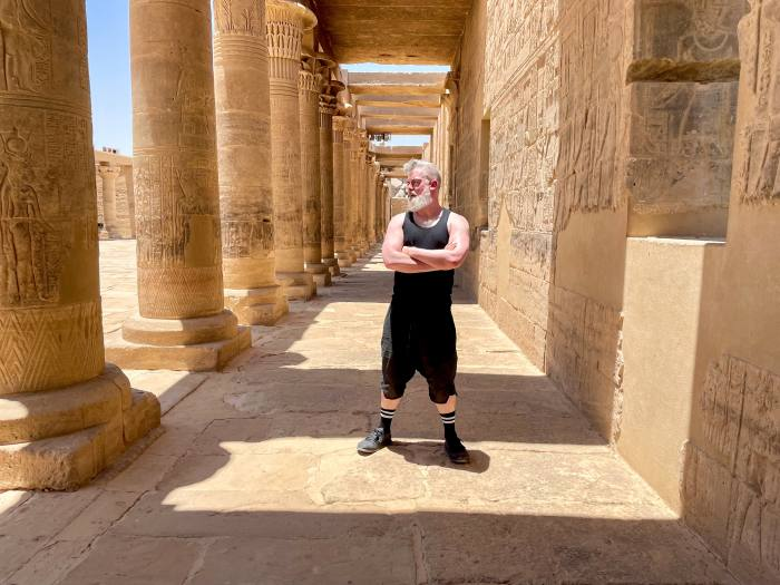The author at the temple of Isis on Philae