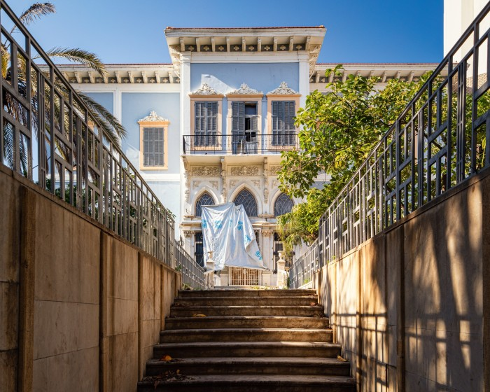 The front of a mansion on Sursock Street, Beirut