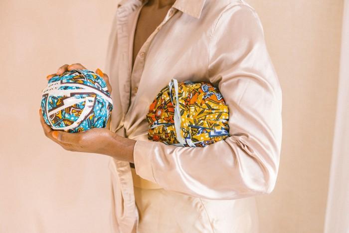Black Girl Knit Club upcycled wax-print cotton yarn, £22.50 a skein, libertylondon.com