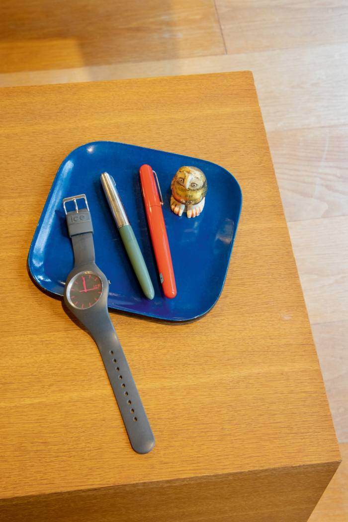 Ando collects Ice-Watches and fountain pens