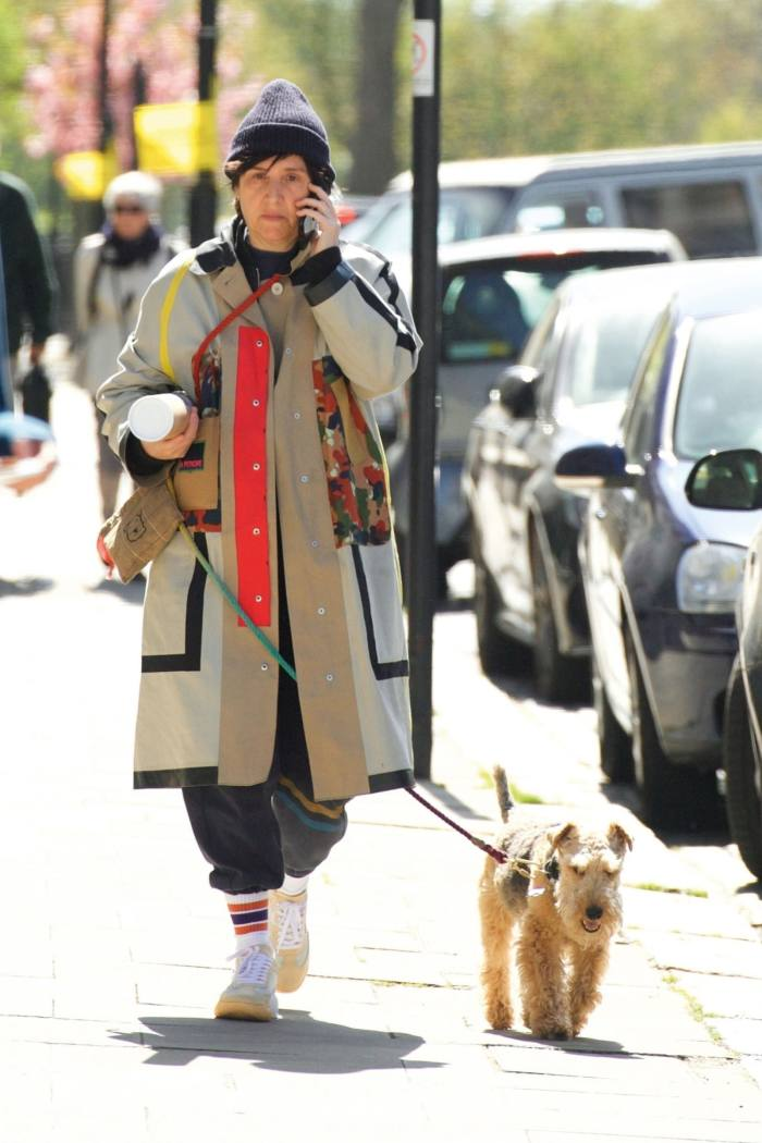 Spiteri with Welsh terrier Sox in London