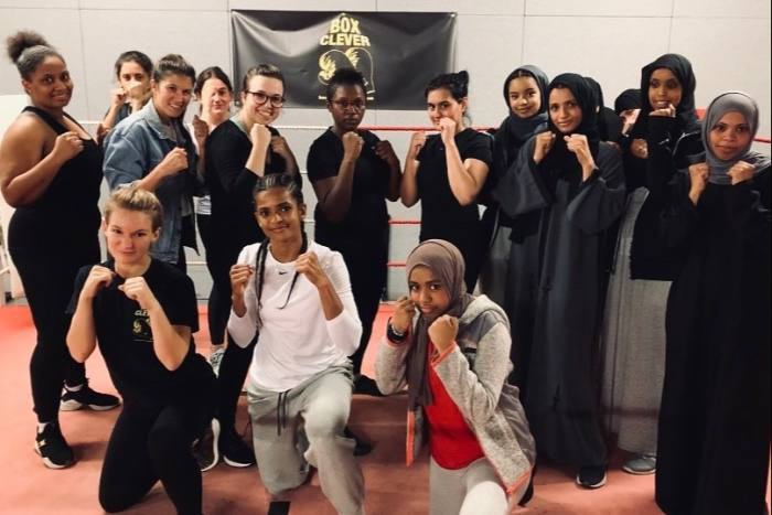 Members of the Sisters Club, Ali's initiative to teach women self-defence