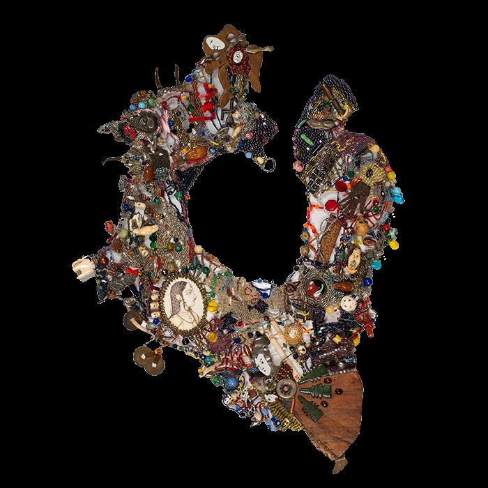 "Joyce Scott, ""Joyce's Necklace"", 1976, beads and found objects"