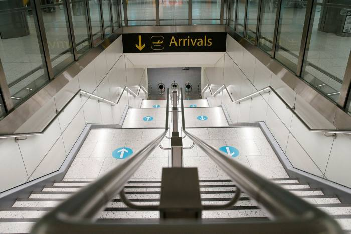 Inside North terminal at Gatwick airport