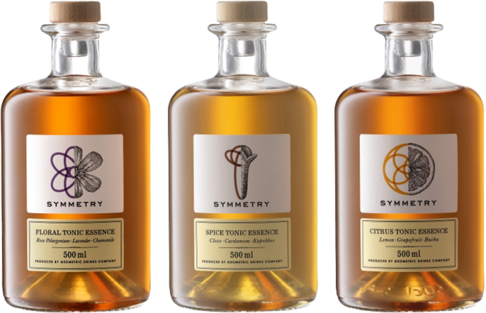 Geometric Drinks Company Symmetry Tonic Essences, 50cl, £16.50 each or £45 for three