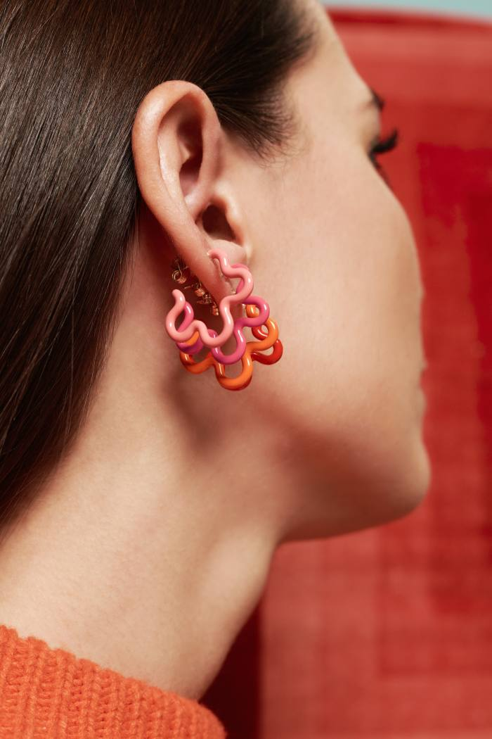 Bea Bongiasca gold, silver and enamel earrings, £295