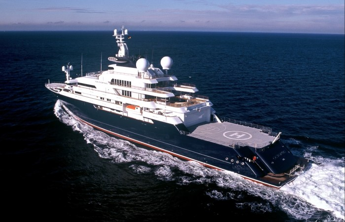 126m yacht Octopus, completed in 2003 for Microsoft co-founder Paul Allen