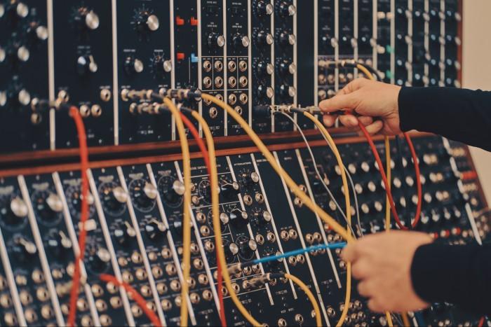 A Moog System 55 synthesiser