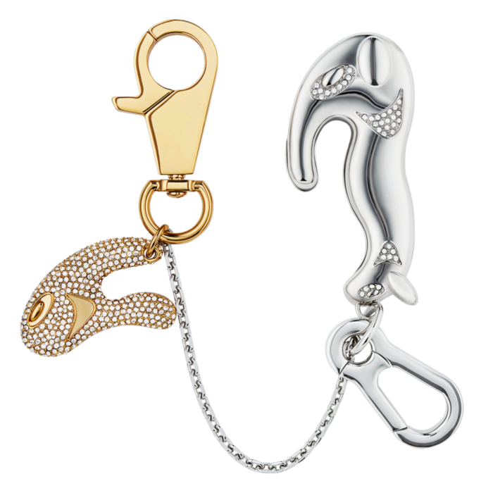 Dior and Kenny Scharf crystal-detail gold- and silver-finish brass Separable Magnetic keychain, £820