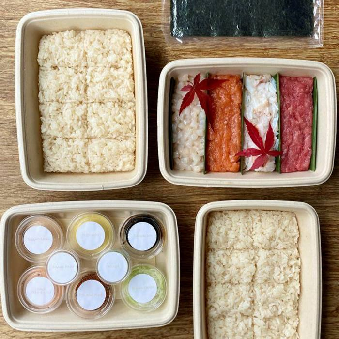 You can start to learn the art of hand-rolling sushi with Dinings SW3's kit