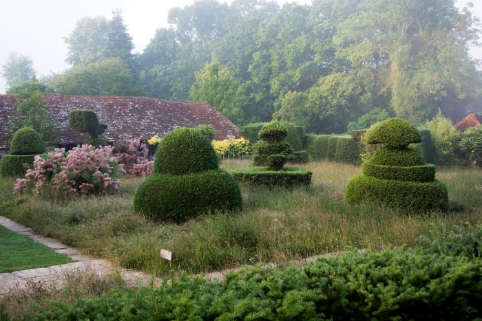 The topiary lawn at Great Dixter