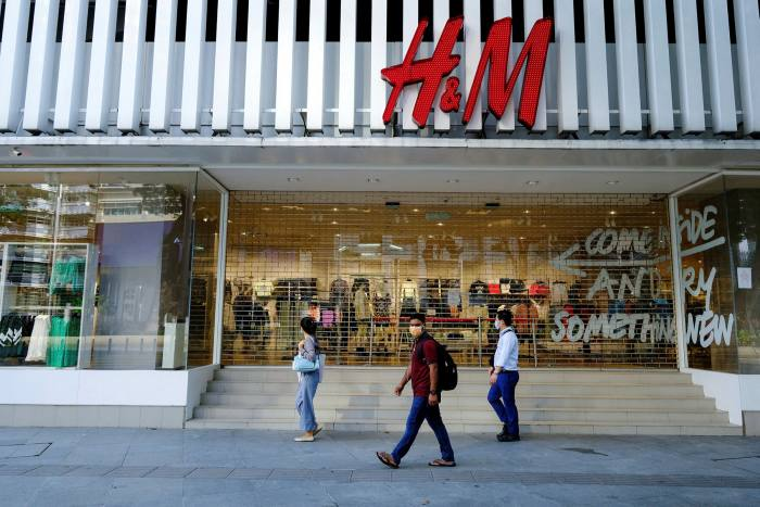 Tip of the iceberg: H&M estimates that its stores and offices account for less than one per cent of its environmental impact