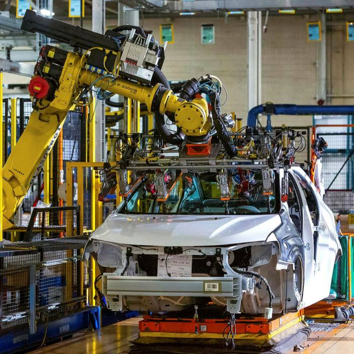 Chevrolet Bolt EV and Chevrolet Sonic vehicles assembled at the General Motors Orion plant in Michigan