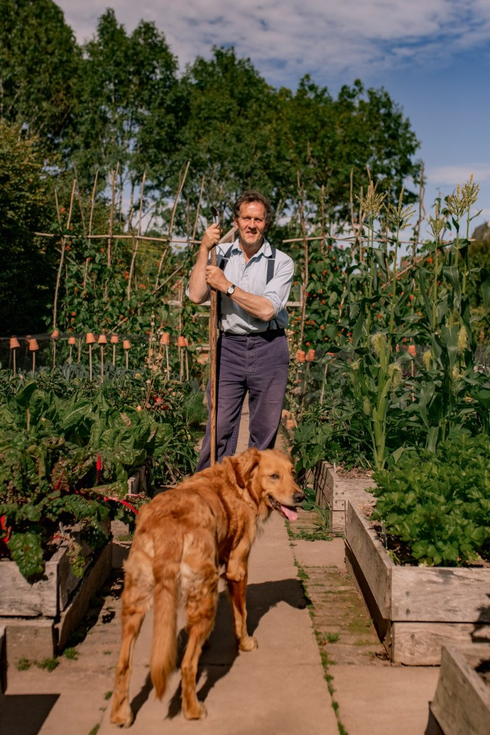 """""""The last thing I bought and loved was my dog, Nellie,"""" says Monty Don of his four-legged gardening companion. A long-term dog owner, the gardener, writer and broadcaster lost a beloved dog, Nigel, in May, after having him for 12 years. A picture of himself with Nigel, by the photographer Marsha Arnold, is one of his most treasured possessions."""
