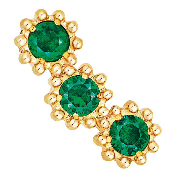 Dior Joaillerie yellow-gold and emerald Mimirose earring, £1,200