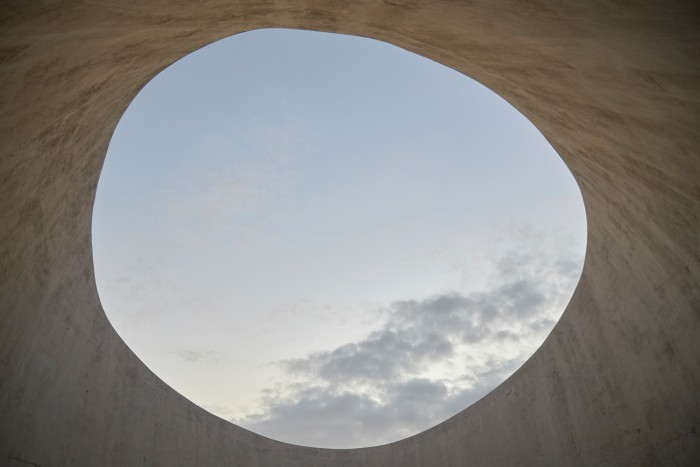 The view out of the naked-eye observatory at Casa Wabi