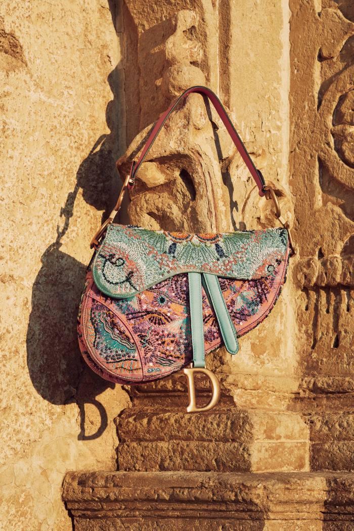 Dior embroidered calfskin Saddle bag, £4,100