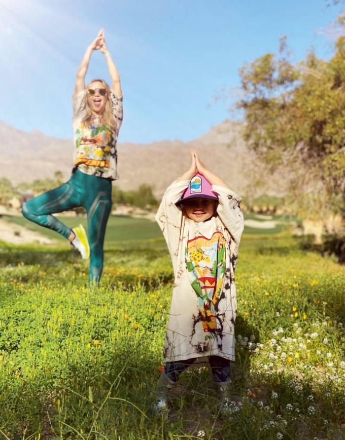Kate Hudson and daughter Rani Rosewear Stella McCartney x Greenpeace Rainforest T-shirt, £325
