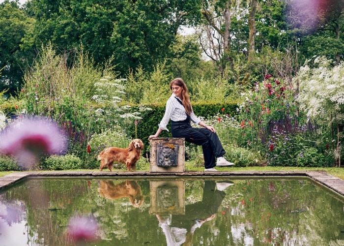 """""""I would never part with my beloved spaniel, Humbug,"""" says interior designer Flora Soames. """"She has been my shadow through so much. We also have her daughter, Coco (named after Chanel). They go withme everywhere."""""""