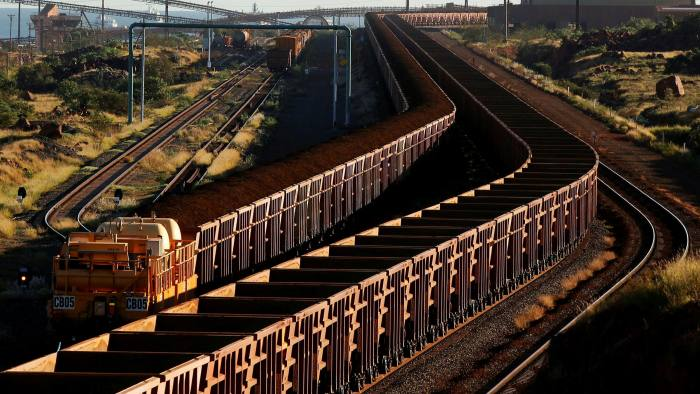A train loaded with iron ore