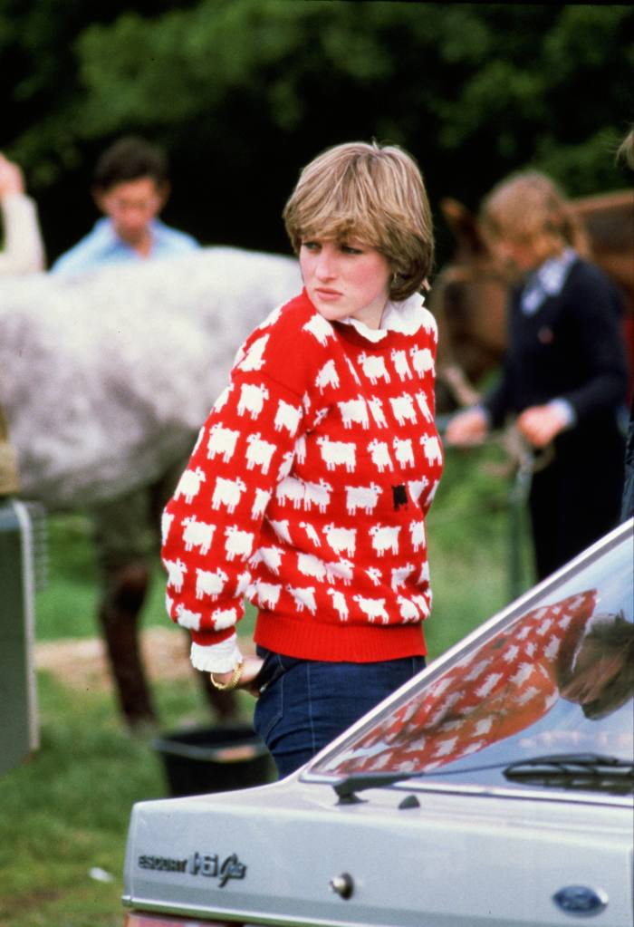 Diana, Princess of Wales, wears the jumper to a polo match in 1981