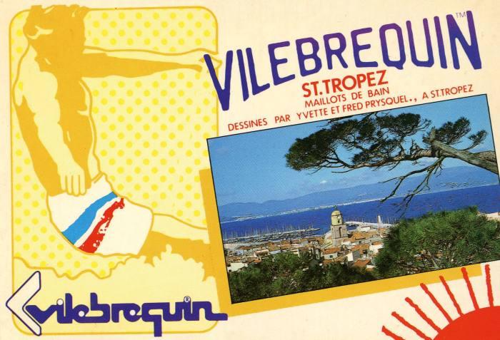 A vintage Vilebrequin postcard
