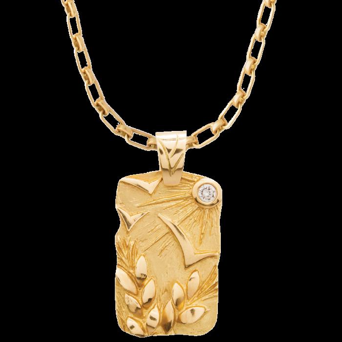 Ilaria Icardi gold and diamond pendant, £3,100, on gold chain, £2,600...