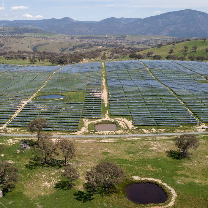 Williamsdale solar farm in Canberra, Australia