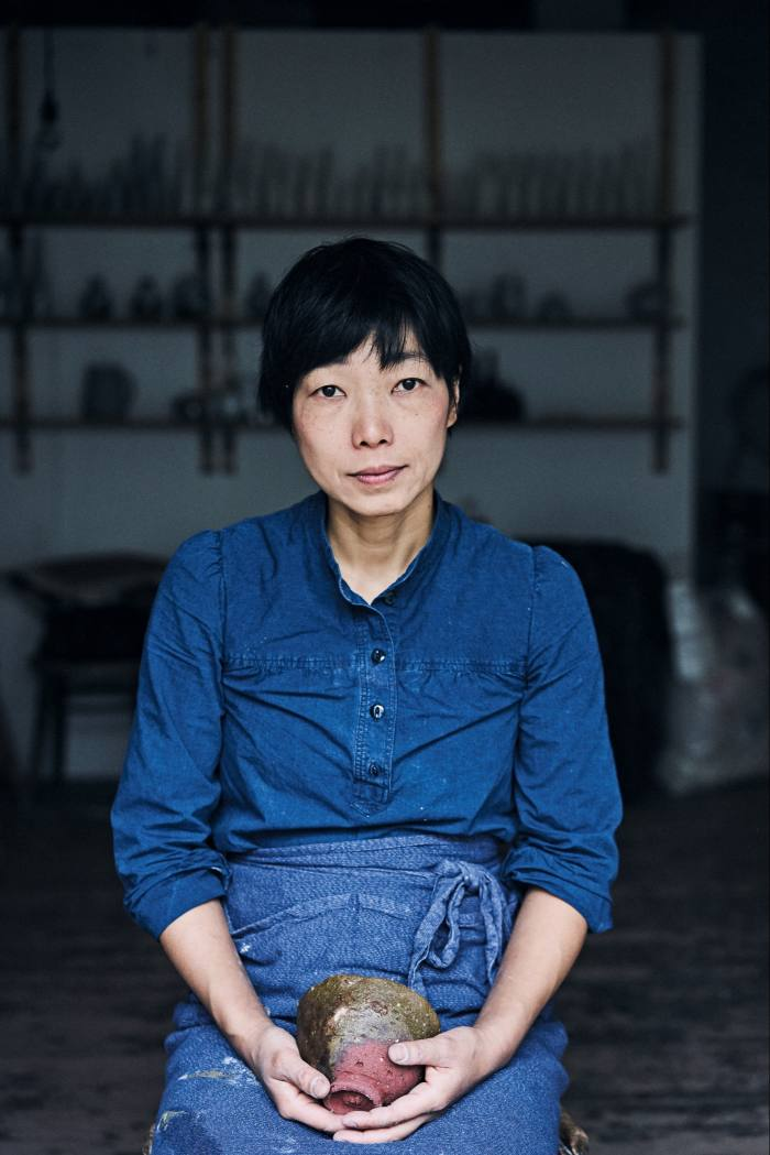 Hirai with one of her glazed stoneware tea bowls, £200, from maudandmabel.com