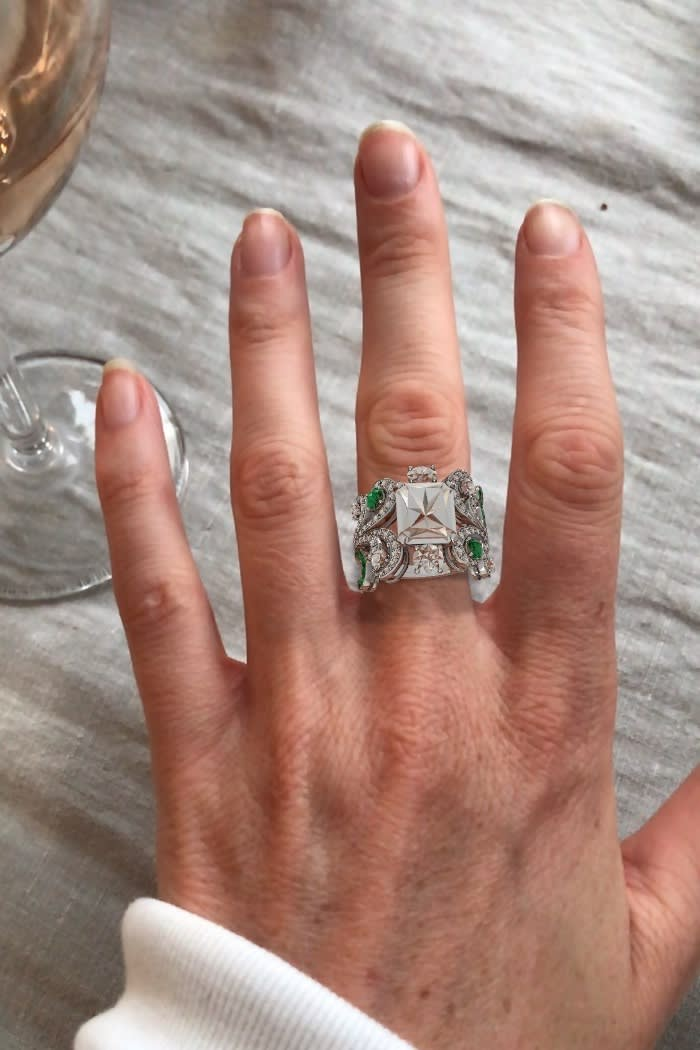 Augmented reality ring on finger