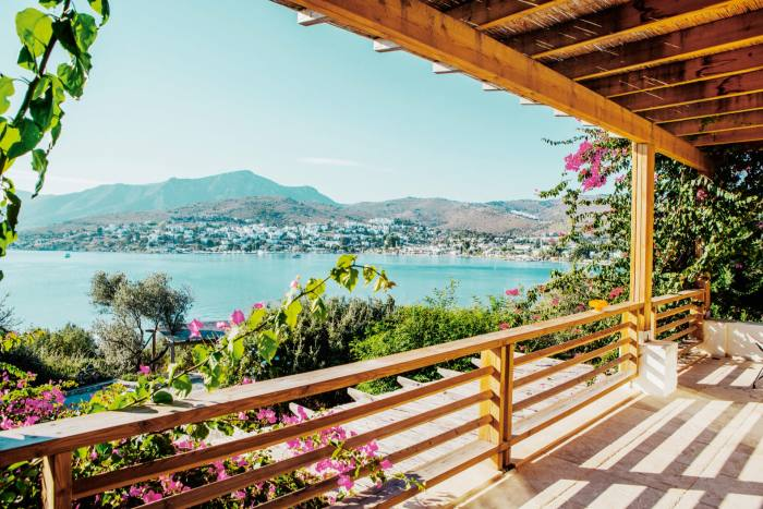 A view from the Maçakizi hotel, in Bodrum